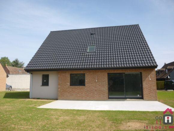 CHEMY, INDIVIDUELLE NEUVE RT 2012, 118M² HABITABLES AVEC JARDIN.