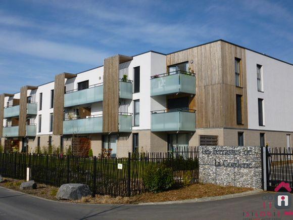 Phalempin centre, appartement T3 67m², 760€/mois, avec garage.